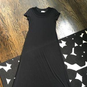 Calvin Klein Mesh Top Short Sleeved Maxi Dress